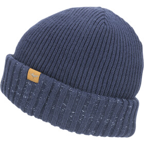 Sealskinz Waterproof Cold Weather Gorro Roll Cuff, navy blue